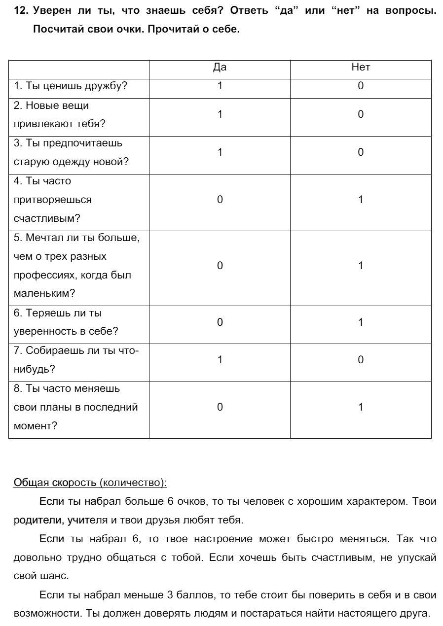 Английский язык 7 класс Биболетова М. З. Unit 1. Международные соревнования тинейджеров / Разделы 1-11: 12