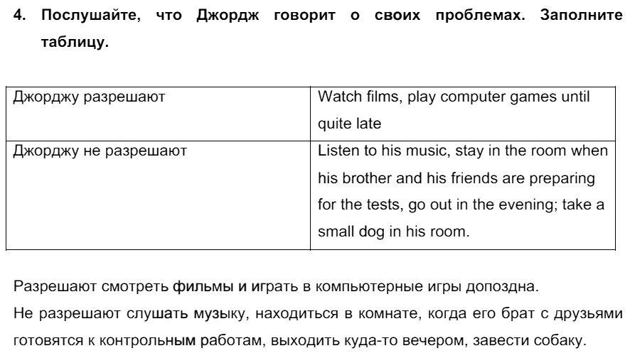 Английский язык 7 класс Биболетова М. З. Unit 3. Взгляните на проблемы подростков: школьное образование / Разделы 1-9: 4