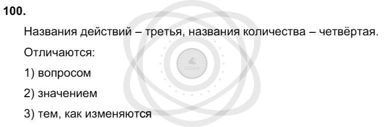 Русский язык 3 класс Соловейчик М. С. Упражнения: 100