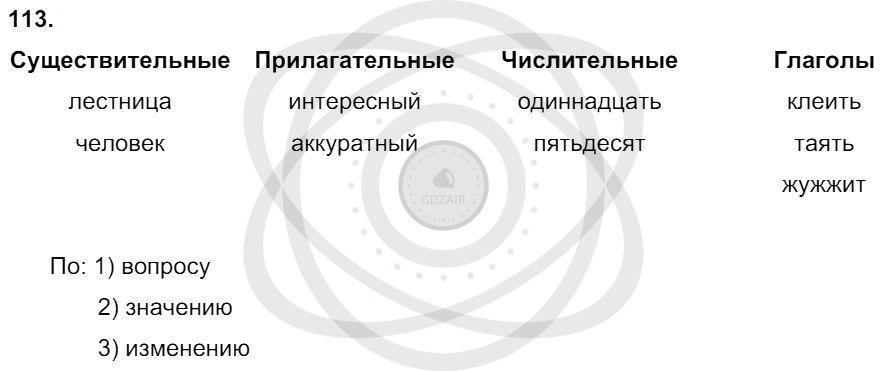 Русский язык 3 класс Соловейчик М. С. Упражнения: 113