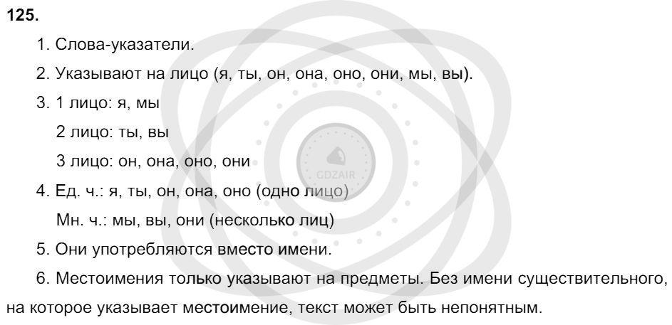 Русский язык 3 класс Соловейчик М. С. Упражнения: 125