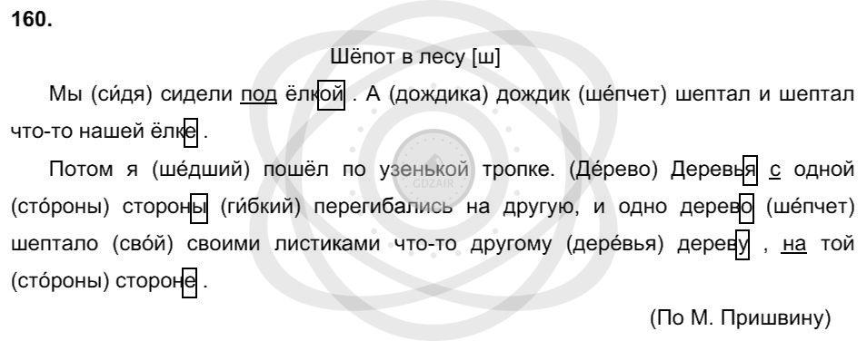 Русский язык 3 класс Соловейчик М. С. Упражнения: 160