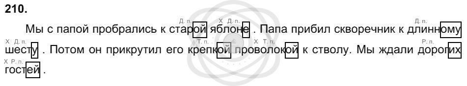 Русский язык 3 класс Соловейчик М. С. Упражнения: 210