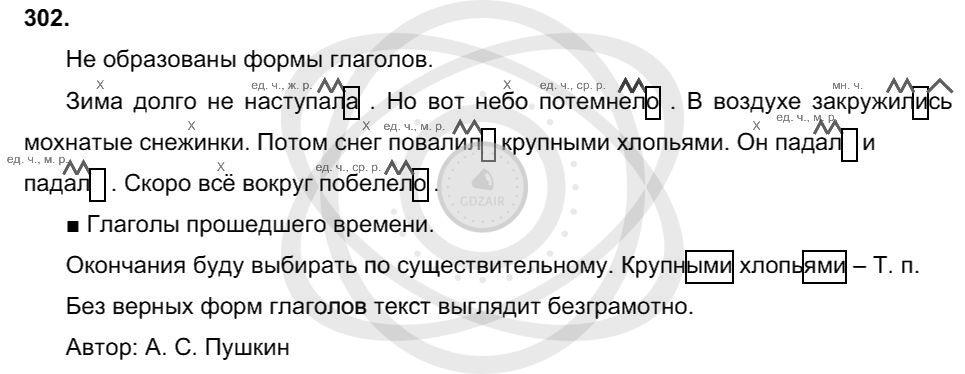 Русский язык 3 класс Соловейчик М. С. Упражнения: 302