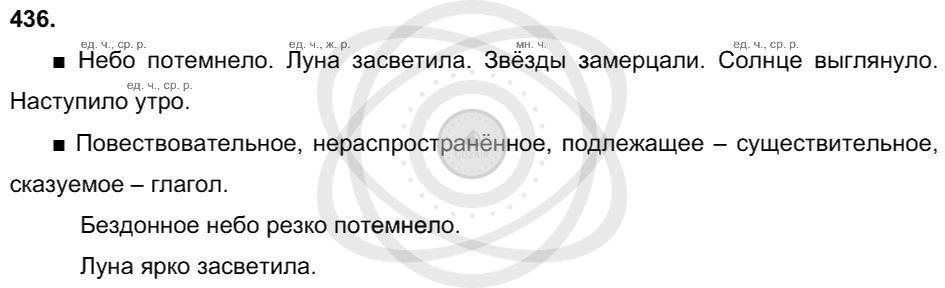 Русский язык 3 класс Соловейчик М. С. Упражнения: 436
