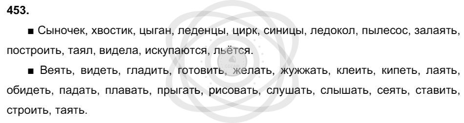 Русский язык 3 класс Соловейчик М. С. Упражнения: 453