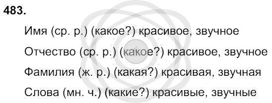 Русский язык 3 класс Соловейчик М. С. Упражнения: 483