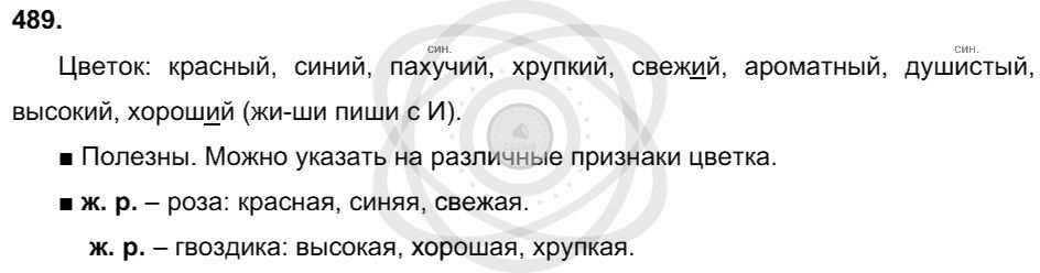Русский язык 3 класс Соловейчик М. С. Упражнения: 489