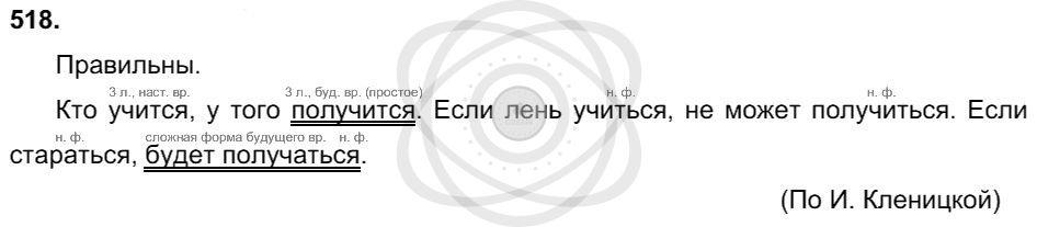 Русский язык 3 класс Соловейчик М. С. Упражнения: 518