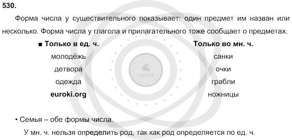 Русский язык 3 класс Соловейчик М. С. Упражнения: 530