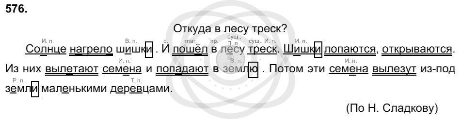 Русский язык 3 класс Соловейчик М. С. Упражнения: 576