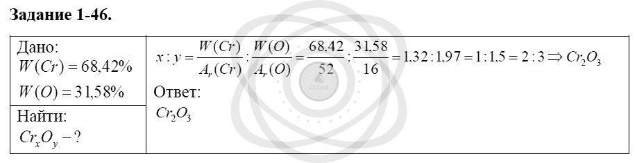 Химия 8 класс Кузнецова Н. Е. Глава 1. Первоначальные химические понятия / Задания: 46