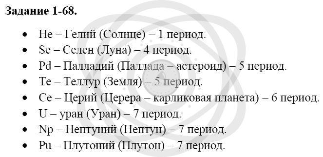 Химия 8 класс Кузнецова Н. Е. Глава 1. Первоначальные химические понятия / Задания: 68