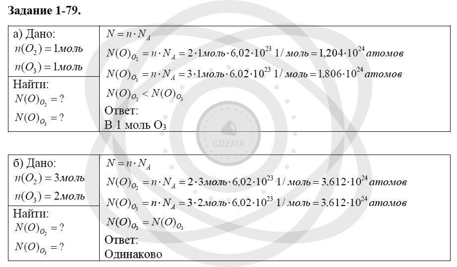 Химия 8 класс Кузнецова Н. Е. Глава 1. Первоначальные химические понятия / Задания: 79