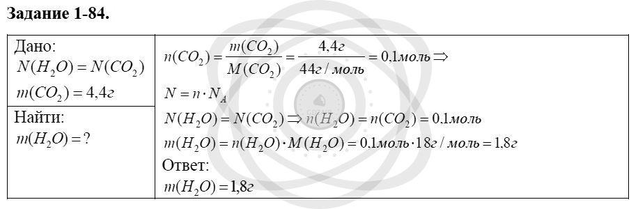 Химия 8 класс Кузнецова Н. Е. Глава 1. Первоначальные химические понятия / Задания: 84