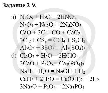 Химия 8 класс Кузнецова Н. Е. Глава 2. Химические реакции / Задания: 9