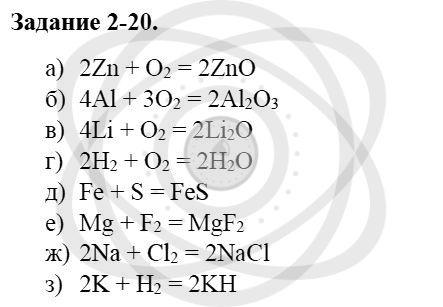Химия 8 класс Кузнецова Н. Е. Глава 2. Химические реакции / Задания: 20