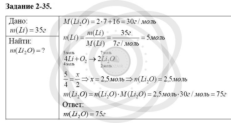 Химия 8 класс Кузнецова Н. Е. Глава 2. Химические реакции / Задания: 35