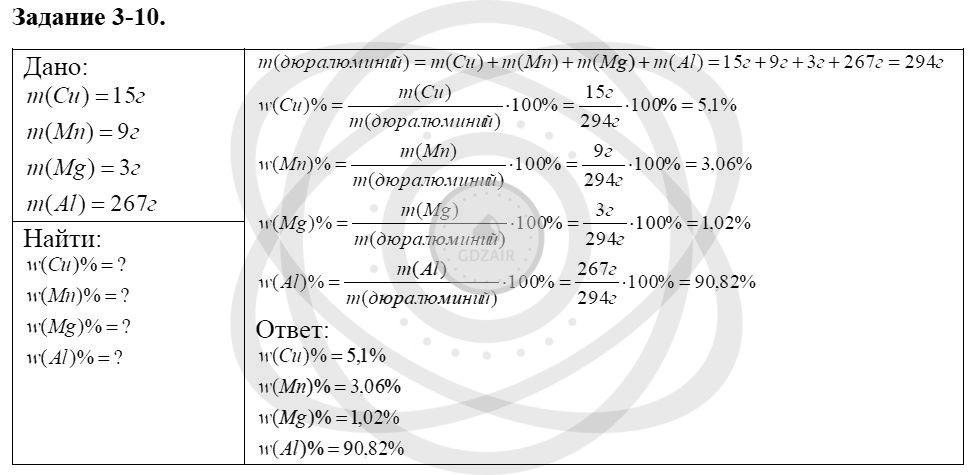 Химия 8 класс Кузнецова Н. Е. Глава 3. Смеси. Растворы / Задания: 10
