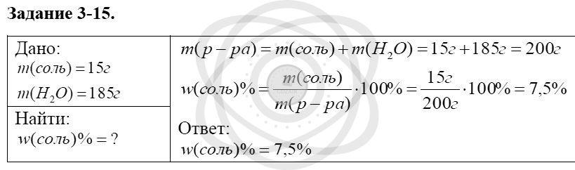 Химия 8 класс Кузнецова Н. Е. Глава 3. Смеси. Растворы / Задания: 15