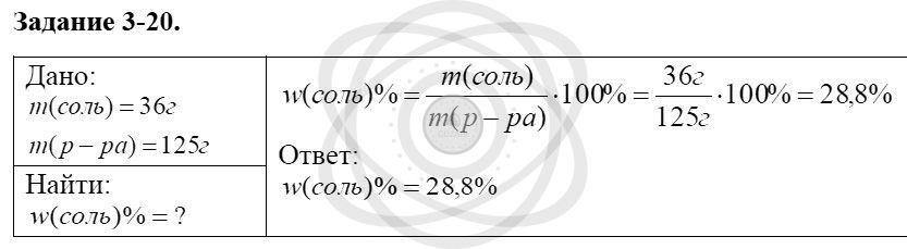 Химия 8 класс Кузнецова Н. Е. Глава 3. Смеси. Растворы / Задания: 20