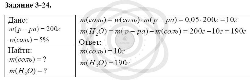 Химия 8 класс Кузнецова Н. Е. Глава 3. Смеси. Растворы / Задания: 24