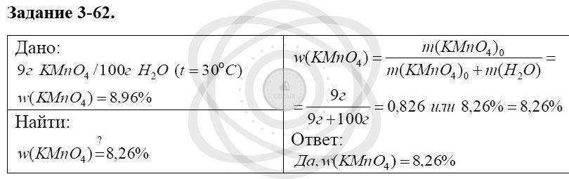 Химия 8 класс Кузнецова Н. Е. Глава 3. Смеси. Растворы / Задания: 62