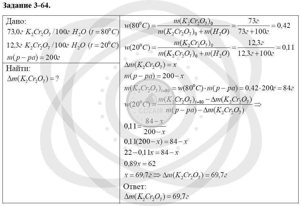 Химия 8 класс Кузнецова Н. Е. Глава 3. Смеси. Растворы / Задания: 64