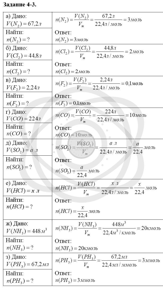 Химия 8 класс Кузнецова Н. Е. Глава 4. Газы. Кислород. Горение / Задания: 3