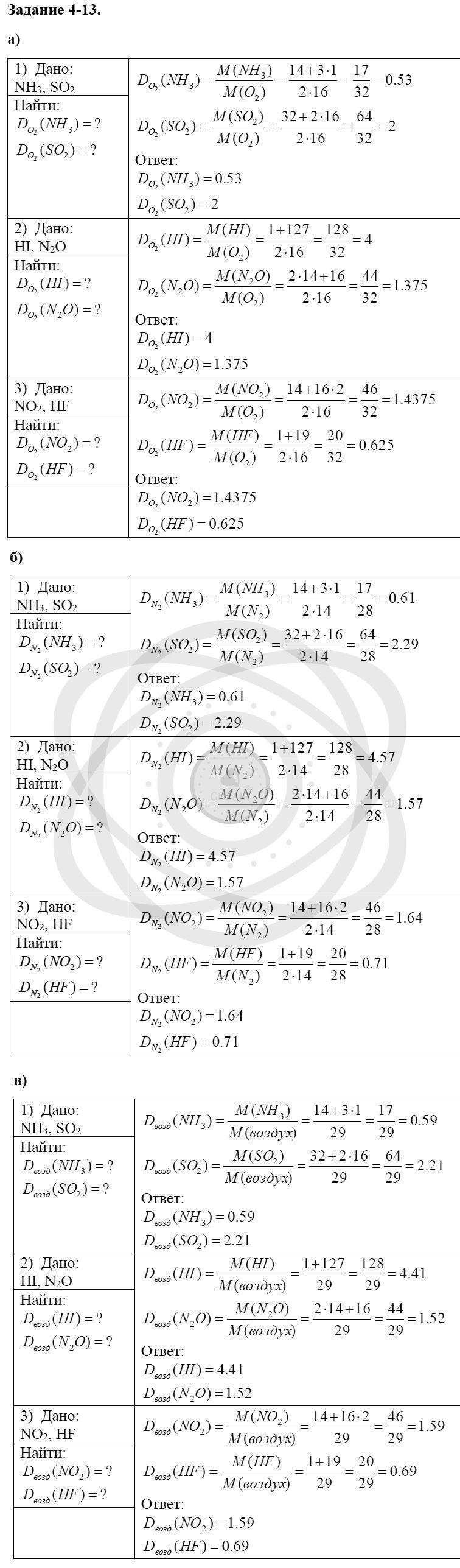 Химия 8 класс Кузнецова Н. Е. Глава 4. Газы. Кислород. Горение / Задания: 13