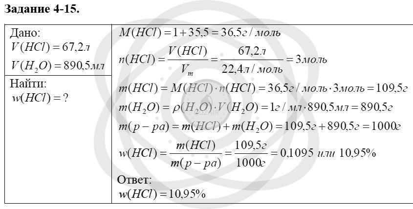 Химия 8 класс Кузнецова Н. Е. Глава 4. Газы. Кислород. Горение / Задания: 15