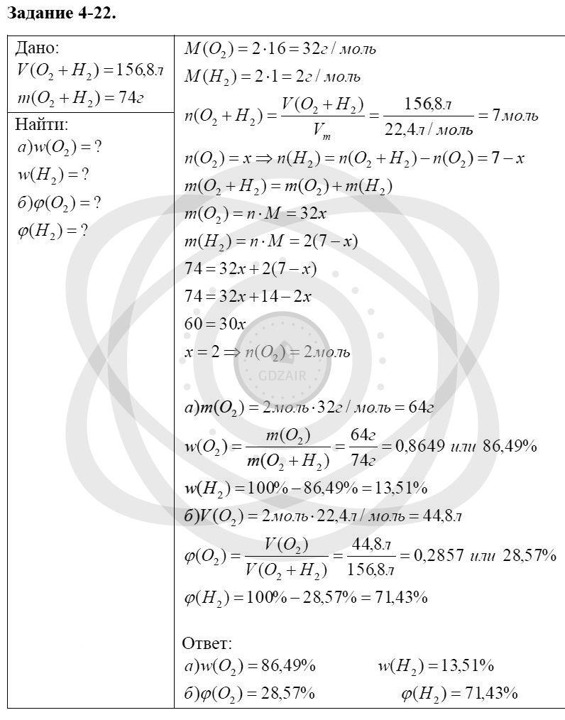 Химия 8 класс Кузнецова Н. Е. Глава 4. Газы. Кислород. Горение / Задания: 22