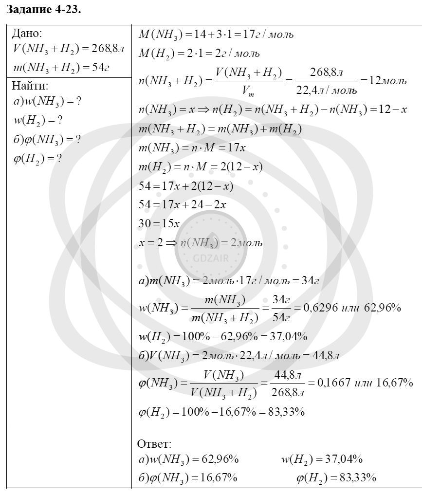 Химия 8 класс Кузнецова Н. Е. Глава 4. Газы. Кислород. Горение / Задания: 23