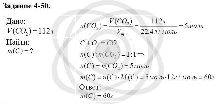 Химия 8 класс Кузнецова Н. Е. Глава 4. Газы. Кислород. Горение / Задания: 50