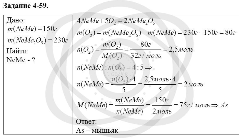 Химия 8 класс Кузнецова Н. Е. Глава 4. Газы. Кислород. Горение / Задания: 59