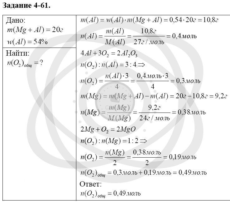 Химия 8 класс Кузнецова Н. Е. Глава 4. Газы. Кислород. Горение / Задания: 61