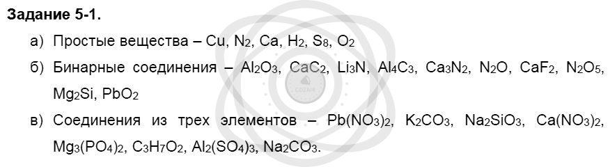 Химия 8 класс Кузнецова Н. Е. Глава 5. Основные классы неорганических соединений / Задания: 1