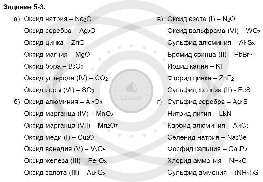 Химия 8 класс Кузнецова Н. Е. Глава 5. Основные классы неорганических соединений / Задания: 3