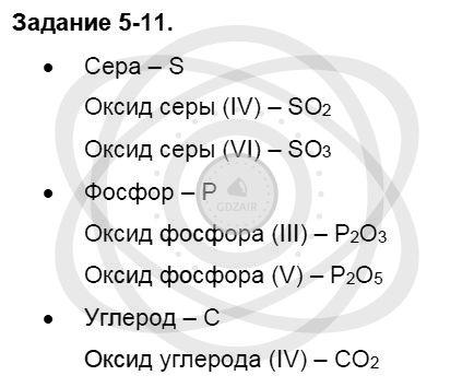 Химия 8 класс Кузнецова Н. Е. Глава 5. Основные классы неорганических соединений / Задания: 11