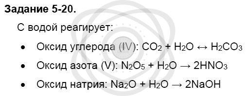 Химия 8 класс Кузнецова Н. Е. Глава 5. Основные классы неорганических соединений / Задания: 20
