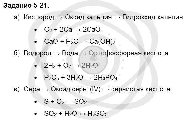 Химия 8 класс Кузнецова Н. Е. Глава 5. Основные классы неорганических соединений / Задания: 21