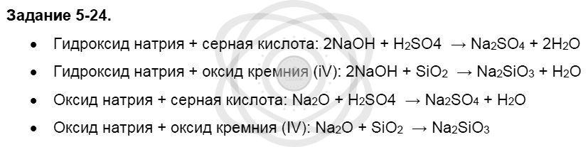 Химия 8 класс Кузнецова Н. Е. Глава 5. Основные классы неорганических соединений / Задания: 24
