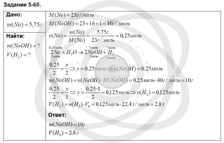 Химия 8 класс Кузнецова Н. Е. Глава 5. Основные классы неорганических соединений / Задания: 60
