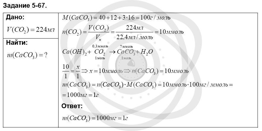 Химия 8 класс Кузнецова Н. Е. Глава 5. Основные классы неорганических соединений / Задания: 67