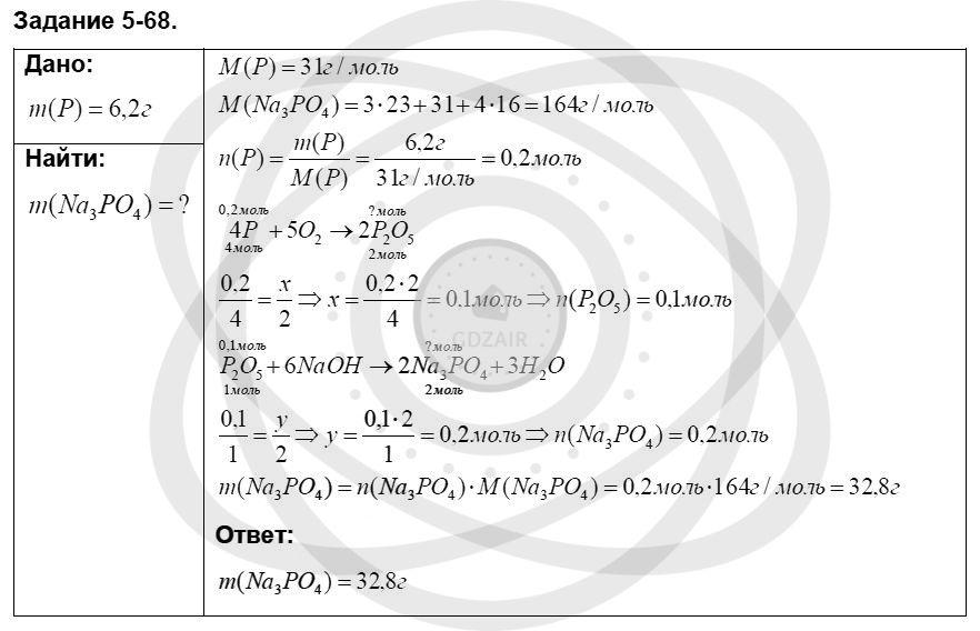 Химия 8 класс Кузнецова Н. Е. Глава 5. Основные классы неорганических соединений / Задания: 68