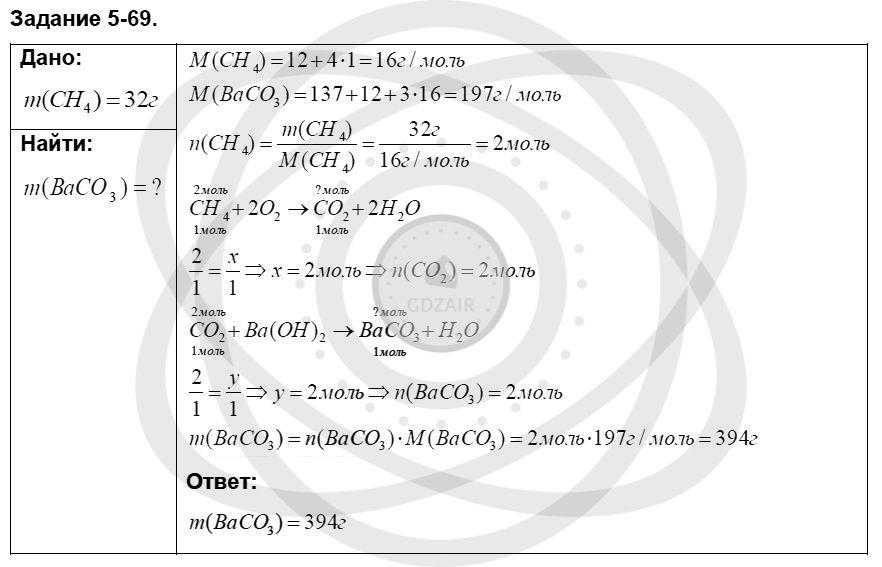 Химия 8 класс Кузнецова Н. Е. Глава 5. Основные классы неорганических соединений / Задания: 69