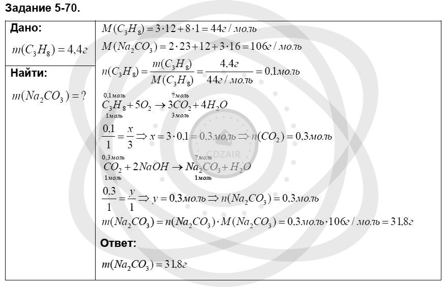 Химия 8 класс Кузнецова Н. Е. Глава 5. Основные классы неорганических соединений / Задания: 70