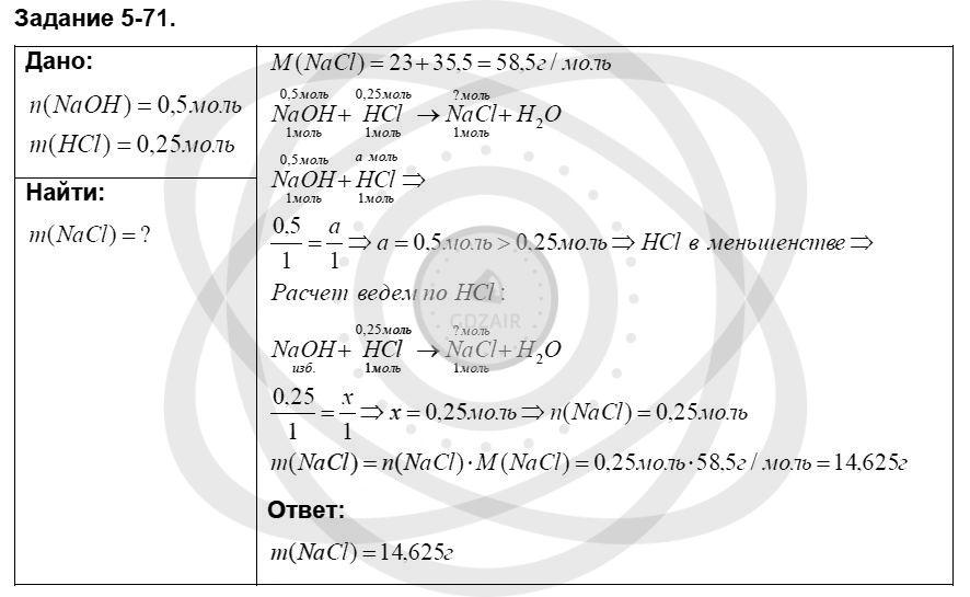 Химия 8 класс Кузнецова Н. Е. Глава 5. Основные классы неорганических соединений / Задания: 71