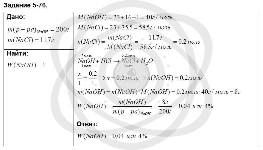 Химия 8 класс Кузнецова Н. Е. Глава 5. Основные классы неорганических соединений / Задания: 76