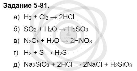 Химия 8 класс Кузнецова Н. Е. Глава 5. Основные классы неорганических соединений / Задания: 81